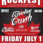 IMPACT LIVE Announces The Rock95 CANADA DAY ROCKFEST w/ ECONOLINE CRUSH, Atlantis Blueprint & Durty Curty ~ 3 Great Bands For The Price Of One!