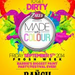 MADE WITH COLOUR Frosh PAINT PARTY!