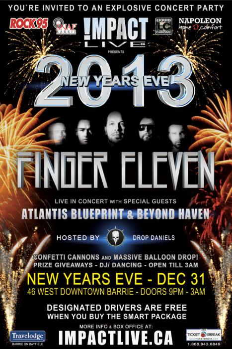 Eleven headlines new years eve 2013 finger eleven headlines new years eve 2013 malvernweather Gallery