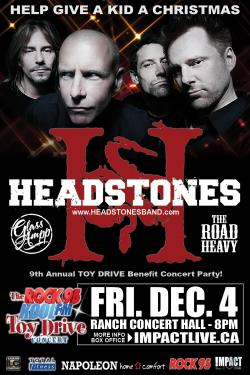 HEADSTONES Headline The 2015 ROCK 95 TOY DRIVE Concert Party Helping To Give Kids A Christmas!
