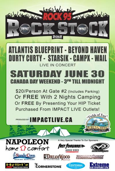 ROCK95 ROCK STOCK Canada Day Weekend