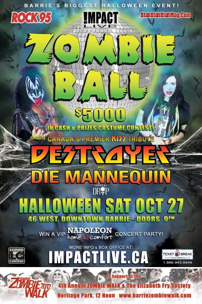 ROCK95 ZOMBIE BALL: Die Mannequin & Destroyer