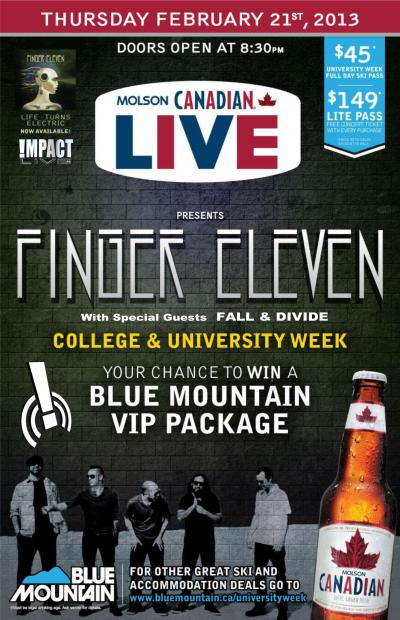 FINGER ELEVEN LIVE AT BLUE MOUNTAIN