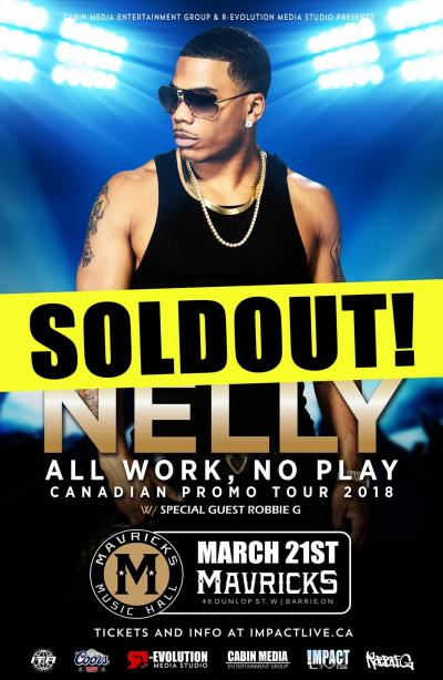 NELLY - All Work, No Play Tour 2018 - SOLD-OUT